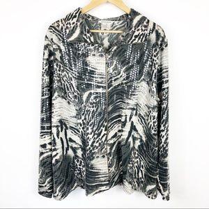 Exclusively Misook Zebra Print Jacket Size 2X